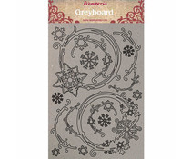 Stamperia Greyboard A4 Snowflakes and Garlands (KLSPDA408)