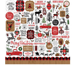 Echo Park A Lumberjack Christmas Element Sticker (ALC220014)