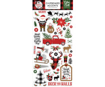 Echo Park A Lumberjack Christmas 6x13 Inch Chipboard Accents (ALC220021)
