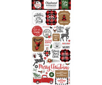 Echo Park A Lumberjack Christmas 6x13 Inch Chipboard Phrases (ALC220022)