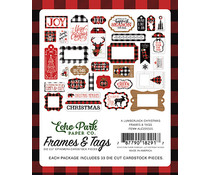Echo Park A Lumberjack Christmas Frames & Tags (ALC220025)