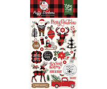 Echo Park A Lumberjack Christmas Puffy Stickers (ALC220066)