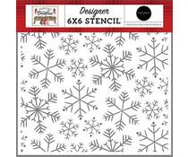 Carta Bella Merry Snowflakes 6x6 Inch Stencil (CBFAC123033)