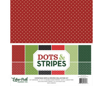 Echo Park Christmas Dots & Stripes 12x12 Inch Collection Kit (DS20038)