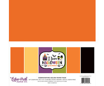 Echo Park I Love Halloween 12x12 Inch Coordinating Solids Paper Pack (ILH218015)