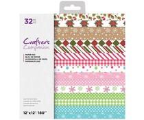 Crafter's Companion Santa's Kitchen 12x12 Inch Paper Pad (CC-PAD12-SANKIT)