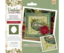 Crafter's Companion Vintage Christmas Elegant Holly Cut & Emboss Folder (NG-VIN-CEF-EHOL)
