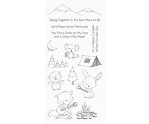 My Favorite Things Happy Campers Clear Stamps (SY-21)