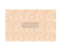 Re-Design with Prima Peach Damask 19x30 Inch Decoupage Décor Tissue Paper (649098)