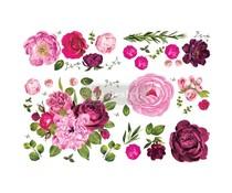 Re-Design with Prima Lush Floral I 48x35 Inch Decor Transfers (644215)