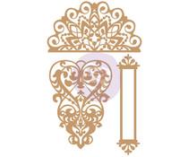 Prima Marketing Lace & Heart Chipboard Diecut (647322)