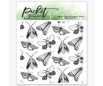 Picket Fence Studios Moths Clear Stamps (A-145)