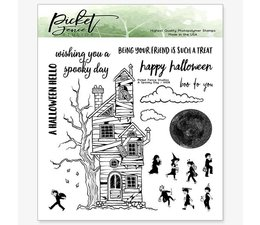 Picket Fence Studios A Spooky Day Clear Stamp (H-108)