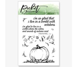 Picket Fence Studios A World of Octobers Clear Stamps (F-143)