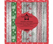 Paper Favourites Wooden Christmas 12x12 Inch Paper Pack (PF344)