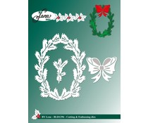 By Lene Holly Wreath Cutting & Embossing Dies (BLD1296)