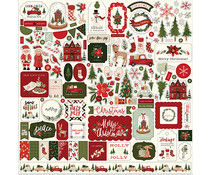 Carta Bella Hello Christmas 12x12 Inch Element Sticker (CBHC124014)
