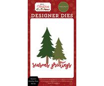 Carta Bella Season's Greeting Trees Dies (CBHC124042)