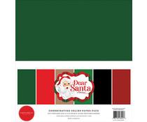 Carta Bella Dear Santa 12x12 Inch Coordinating Solids Paper Pack (CBDE125015)