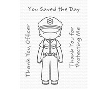 My Favorite Things Thank You, Officer Clear Stamps (PI-306)