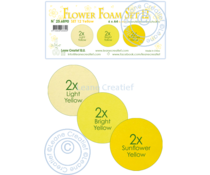 Leane Creatief Flower Foam A4 Set 12 Yellow (25.6890)