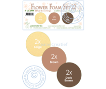 Leane Creatief Flower Foam A4 Set 22 Brown-Beige (25.6999)