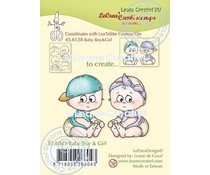 Leane Creatief Baby Boy & Girl Clear Stamps (55.6043)