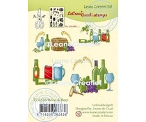 Leane Creatief Wine & Beer Clear Stamps (55.6838)