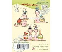 Leane Creatief Snail Couple Clear Stamps (55.6845)