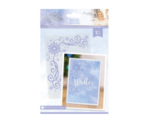 Crafter's Companion Glittering Snowflakes 5x7 Inch Embossing Folder Touch of Winter (S-GS-EF5-TOWI)