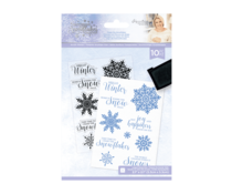 Crafter's Companion Glittering Snowflakes A6 Clear Stamp Chase The Snowflakes (S-GS-ST-CHTS)