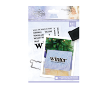 Crafter's Companion Glittering Snowflakes Stamp & Die Winter Solstice (S-GS-STD-WISO)