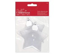 Papermania Create Christmas Plastic Fillable Baubles Stars (2pcs) (PMA 105980)