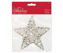 Papermania Create Christmas Rattan Star White 140mm (PMA 174459)