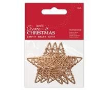 Papermania Create Christmas Rattan Stars 60mm (3pcs) (PMA 174464)