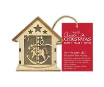 Papermania Create Christmas Mini Wooden LED Shadow Box House Rocking Horse (PMA 174961)