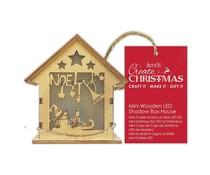 Papermania Mini Wooden LED Shadow Box House Noel (PMA 174965)