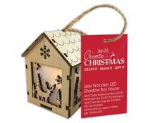 Papermania Create Christmas Mini Wooden LED Shadow Box House Winter Stag (PMA 174969)