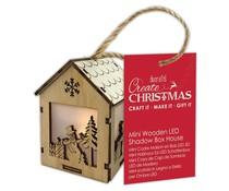 Papermania Create Christmas Mini Wooden LED Shadow Box House Snowman Presents (PMA 174972)