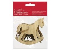 Papermania Wooden Hanging Decoration Rocking Horse (4pcs) (PMA 174973)