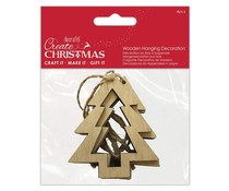 Papermania Wooden Hanging Decoration Cutout Tree (4pcs) (PMA 174975)