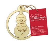 Papermania Wooden Hanging Ornament Snowman (PMA 174976)