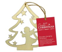 Papermania Wooden Hanging Ornament Angel Tree (PMA 174977)