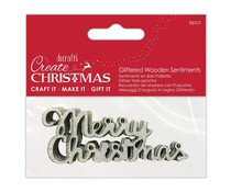 Papermania Glittered Wooden Sentiments Silver (PMA 174980)