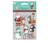 Papermania Santa and Friends 3D Stickers (8pcs) (PMA 801905)