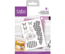 Crafter's Companion Flutterby Florals Clear Stamps (CC-CA-ST-FLUT)