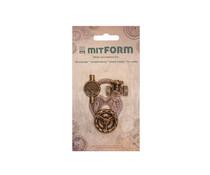Mitform Tubes & Valves 4 Metal Embellishments (MITS057)