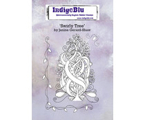 IndigoBlu Swirly Tree A6 Rubber Stamps (IND0669)