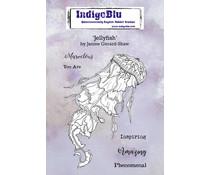 IndigoBlu Jellyfish A6 Rubber Stamps (IND0670)