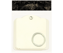 Graphic 45 Square Tags Ivory (4501282)
